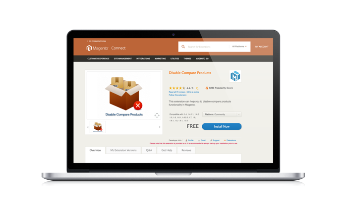 Magento extensions development